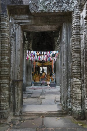 The entrance gate of Banteay Kdei temple, Angkor, Siem Reap, Cambodia