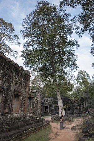 Woman at Banteay Kdei temple, Angkor, Siem Reap, Cambodia