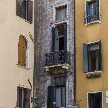 Bancony at side of house, Venice, Veneto, Italy