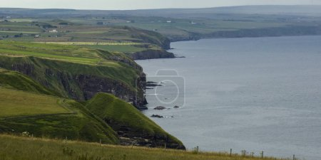 Scenic view of coastline, Berriedale, Caithness, Scottish Highlands, Scotland