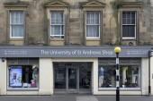 University of St Andrews shop at Market Street, St Andrews, Fife, Scotland