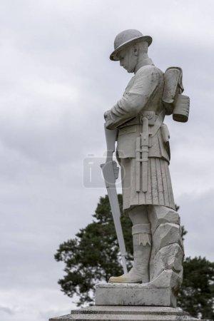 Statue of soldier, Fort William, Scottish Highlands, Scotland