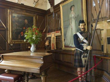 Interior of the Blair Castle, Blair Atholl, Perthshire, Scotland