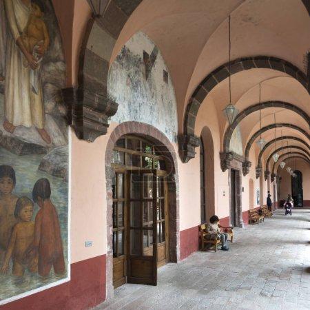 Murals on corridor of the University School of Fine Arts, San Miguel de Allende, Guanajuato, Mexico