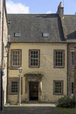 Facade of a house, Royal Mile, Edinburgh, Scotland...