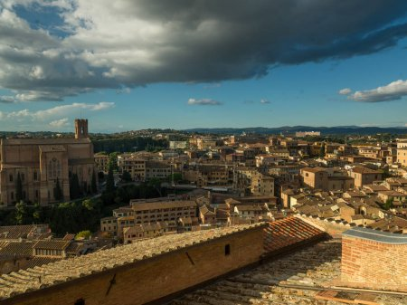 Elevated view of cityscape, Siena, Tuscany, Italy