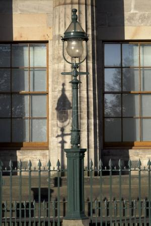 Lamppost in front of building, Scottish National Gallery, Hanover Street, Edinburgh, Scotland