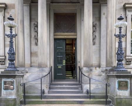 Facade of the Royal College of Physicians of Edinburgh, Queen Street, Edinburgh, Scotland