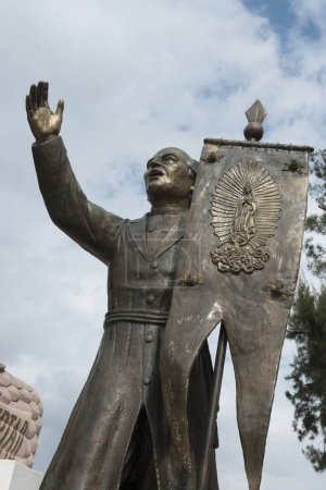Statue of a man holding a banner, Sanctuary of Atotonilco, San Miguel de Allende, Guanajuato, Mexico