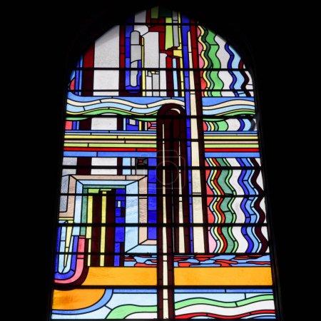 Photo pour Vitrail, Cathédrale St. Mary's, Édimbourg, Écosse - image libre de droit