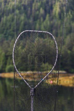 View of fishing net, Skeena-Queen Charlotte Regional District, Haida Gwaii, Graham Island, British Columbia, Canada