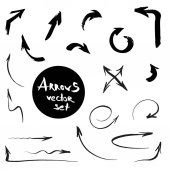 Arrows Vector Set Hand Brushed Thin Huge