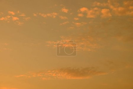 Photo for Beautiful cloudy sunset sky.Beautiful cloudy sunset at sea. - Royalty Free Image