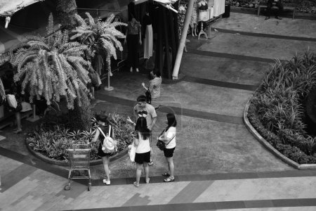 Photo for City life in Thailand, black and white tone - Royalty Free Image