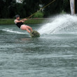 07 October, 2018 - Thailand: Man is wakeboarding o...
