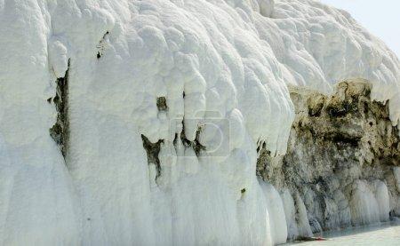 Pamukkale limestone walls