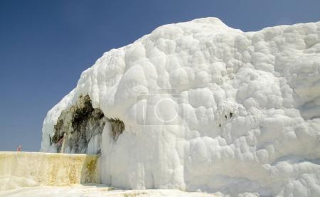 Pamukkale limestone walls and hills