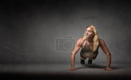 push up for athletic woman