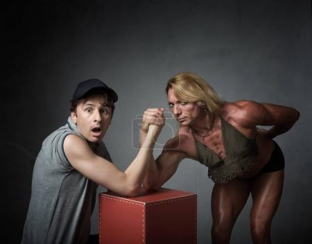 arm wrestling concept