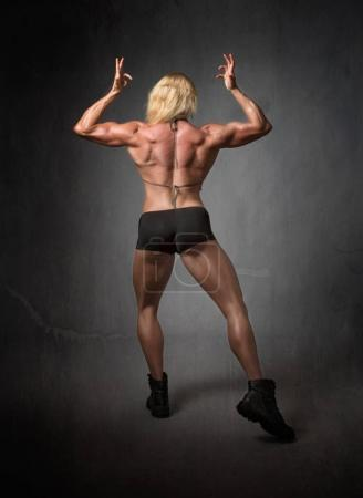 body builder back side