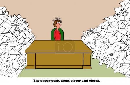 Paperwork crept closer