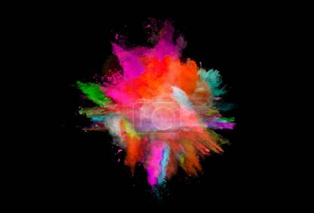 Photo pour Éclaboussure de couleur avec fond noir - image libre de droit