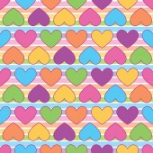 Rainbow colorful heart A playful modern and flexible pattern for brand who has cute and fun style Repeated pattern Happy bright and magical mood