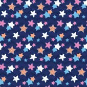 Starry night sky in wave A playful modern and flexible pattern for brand who has cute and fun style Repeated pattern Happy bright and magical mood