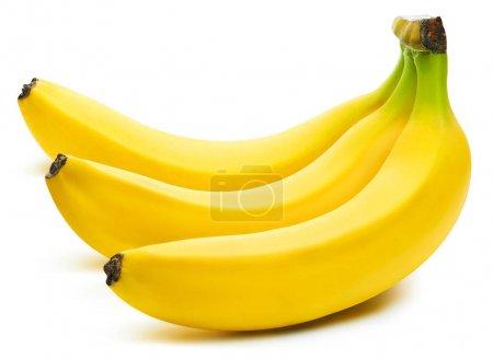 Foto de Manojo de plátanos aislados sobre fondo blanco Clipping Path - Imagen libre de derechos