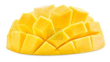 Foto de Rebanada de mango aislado sobre fondo blanco trazado de recorte - Imagen libre de derechos