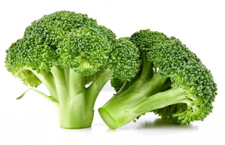 Photo for Raw broccoli isolated on white background - Royalty Free Image
