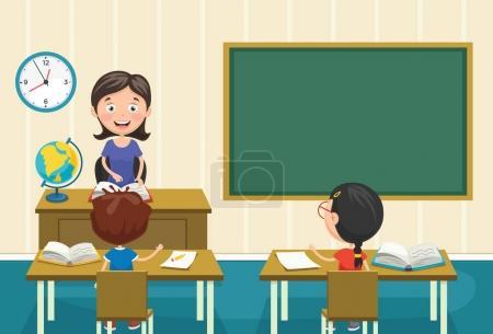 Illustration pour Illustration vectorielle d'un enseignant enseignant - image libre de droit