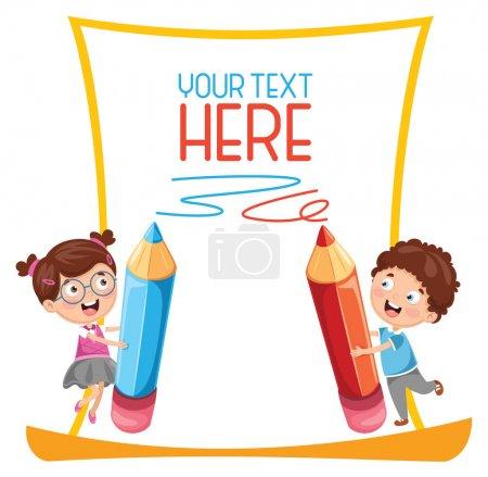 Illustration pour Illustration vectorielle des écoliers - image libre de droit