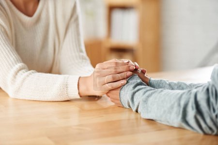 Photo for Cropped image of woman comforting her friend - Royalty Free Image