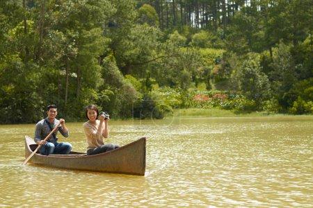 Young couple enjoying nature