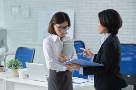 business woman having job interview