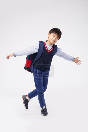 Smiling Korean schoolboy