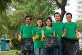 Group of environmental volunteers