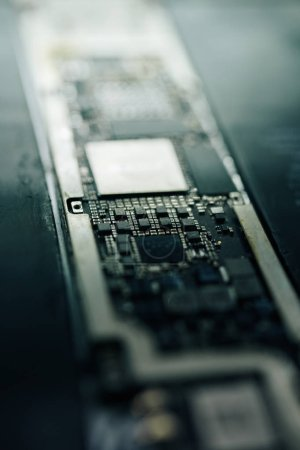 Photo for Logic board of modern smartphone, selective focus - Royalty Free Image