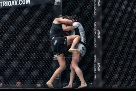 """Angela Lee of Singapore and Jenny Huang of Chinese Taipei in One Championship """"One : Warrior Kingdom"""""""