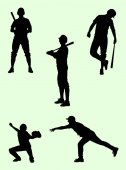 Baseball player silhouette 03 Good use for symbol logo web icon mascot sign or any design you want