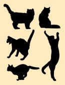Cat silhouette 01 Vector illustration Good use for symbol logo web icon mascot sign or any design you want