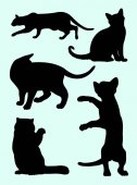 Cat silhouette 03 Vector illustration Good use for symbol logo web icon mascot sign or any design you want
