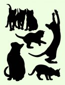 Cat silhouette 04 Vector illustration Good use for symbol logo web icon mascot sign or any design you want