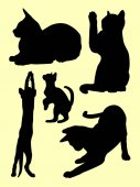 Cat silhouette 05 Vector illustration Good use for symbol logo web icon mascot sign or any design you want