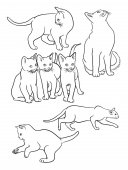 Cat line art 04 Vector illustration Good use for symbol logo web icon mascot sign coloring or any design you want