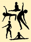 Ballerina gesture silhouette 03 Good use for symbol logo web icon mascot sign or any design you want