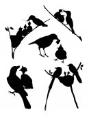 Birds silhouette 02 Good use for symbol logo web icon mascot sign or any design you want