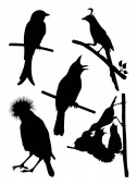 Birds silhouette 03 Good use for symbol logo web icon mascot sign or any design you want
