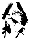 Birds silhouette 04 Good use for symbol logo web icon mascot sign or any design you want